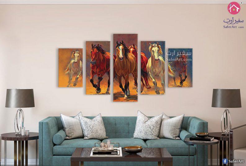 لوحات مودرن للأحصنه