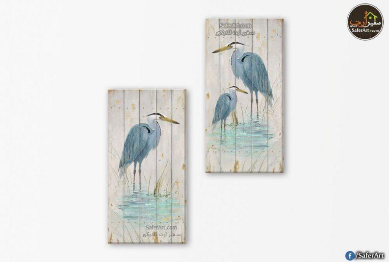 تابلوهات مودرن لطيور فى الماء