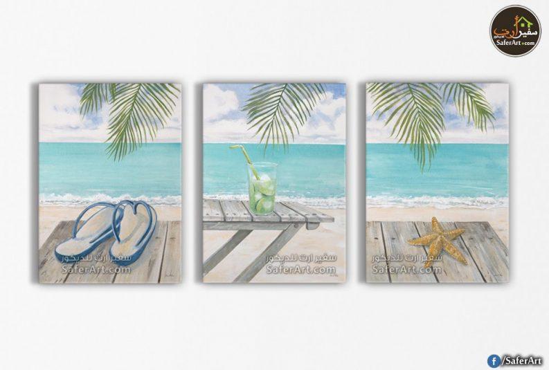 تابلوه مودرن لشاطئ البحر