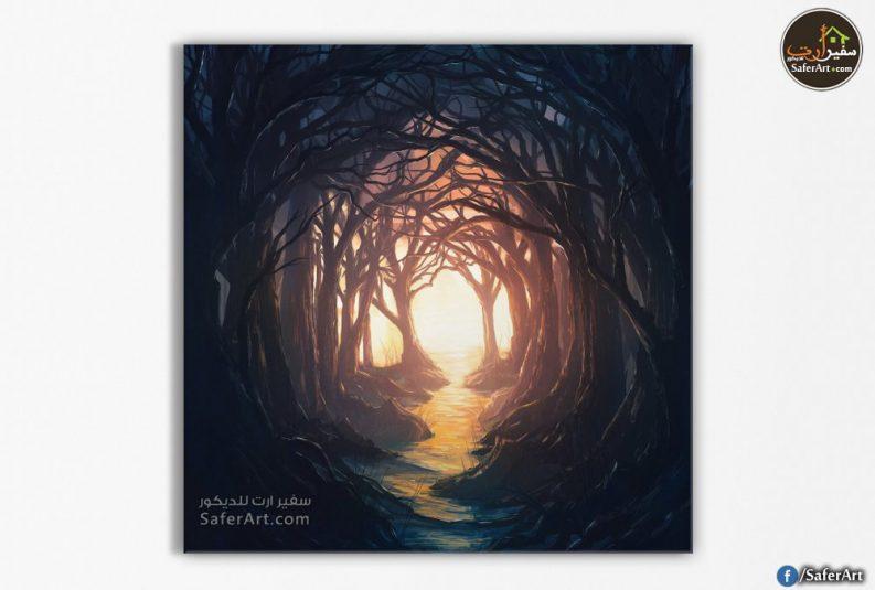 تابلوه مودرن-اشجار الغابه