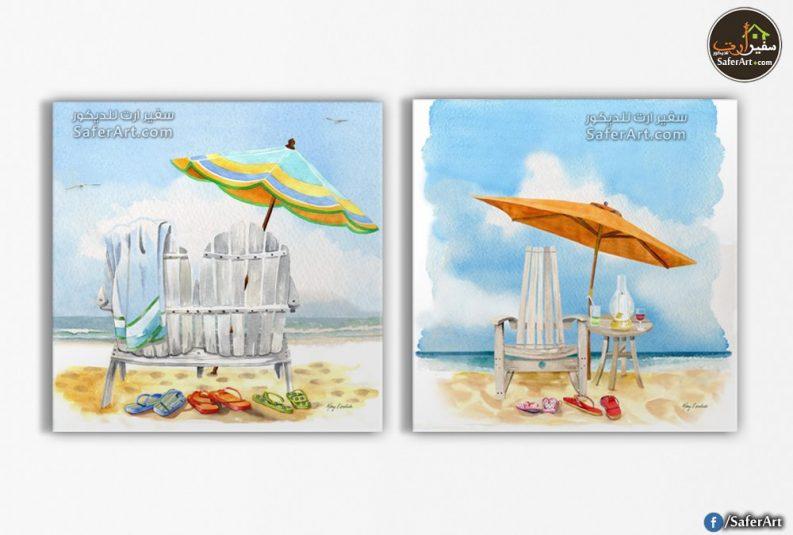 تابلوه مودرن- لشاطئ البحر والرمال