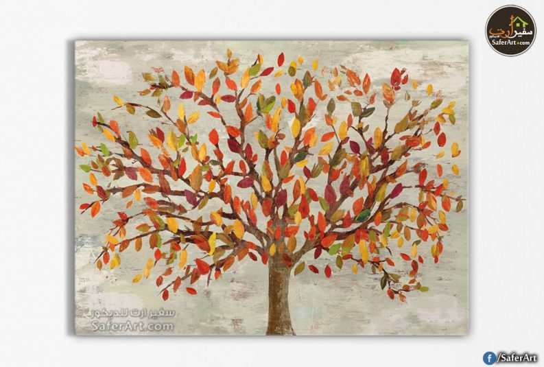 تابلوه مودرن-شجره مليئة بالألوان