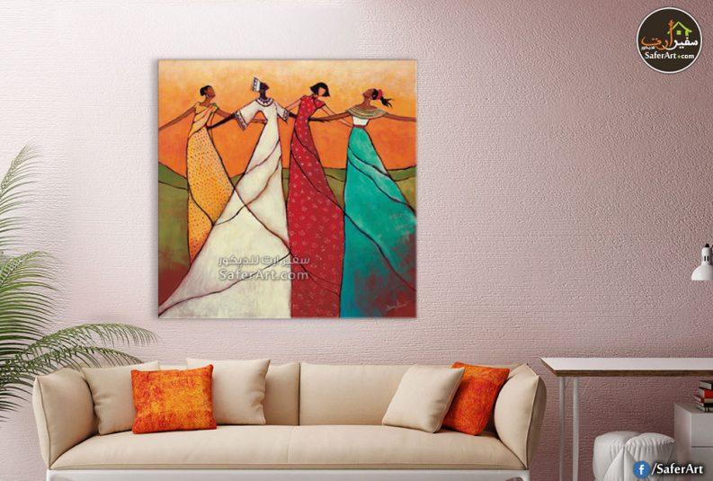 تابلوه حائط مودرن لمجموعه رسومات بالفن الافريقي