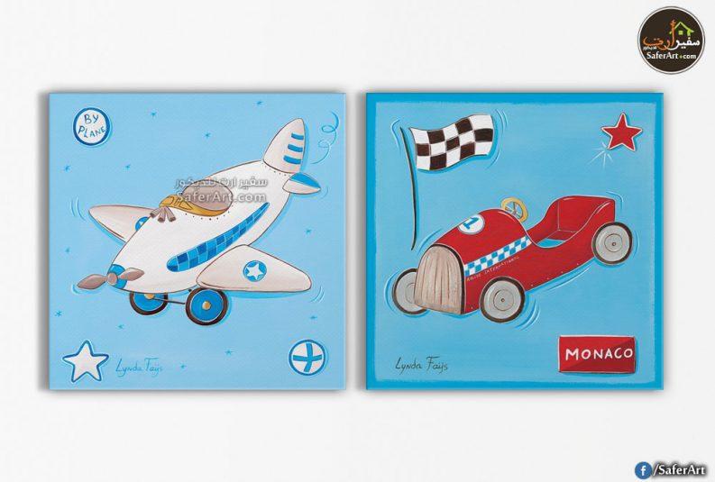 لوحات حائط-سياره وطائره