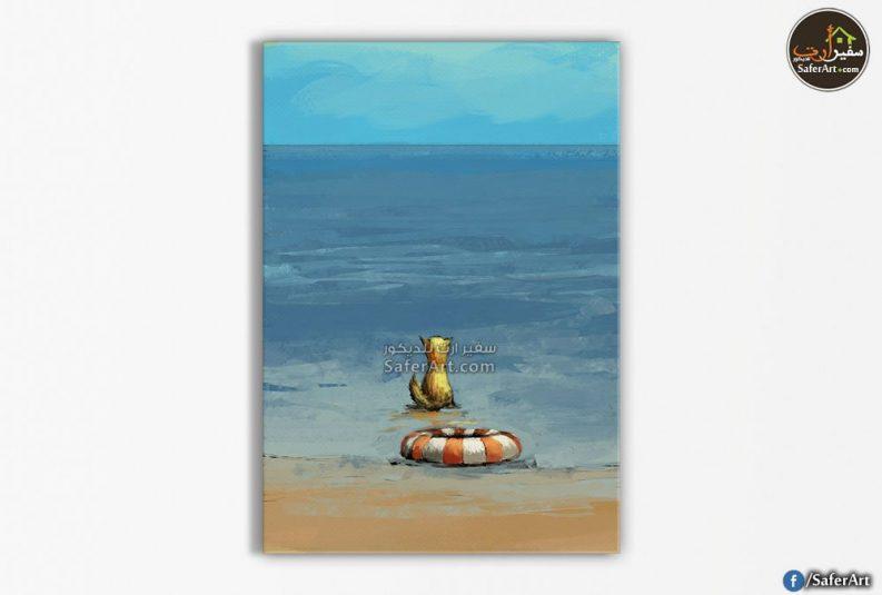 لوحات مودرن-شاطئ البحر