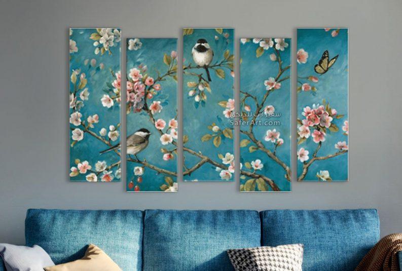 تابلوه حائط مميز بألوان مبهجه لبعض الورود
