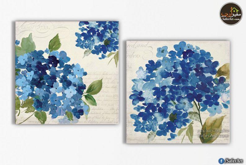 لوحات مودرن-ورود زرقاء