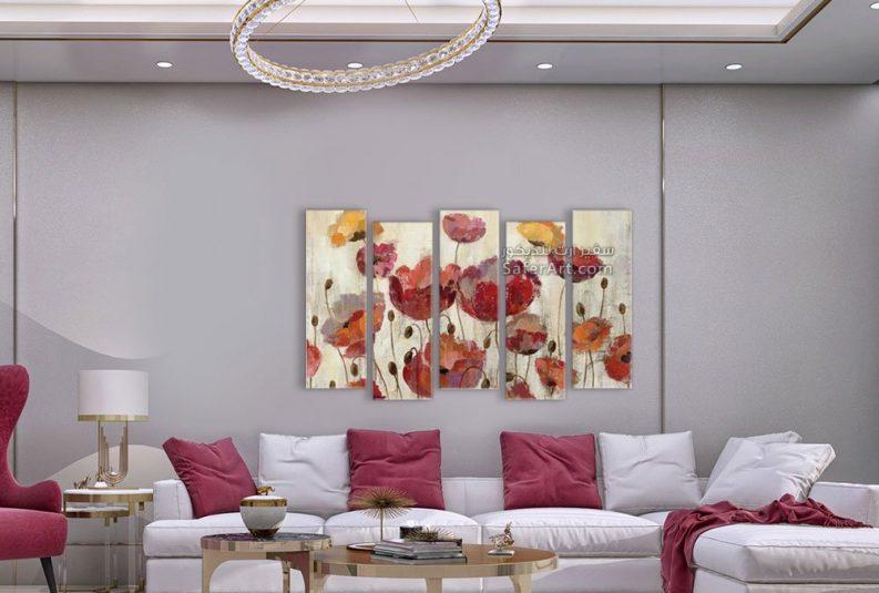 تابلوهات مودرن لمجموعه من الورود