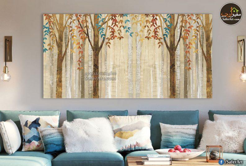 لوحات مودرن , تصميم لاشجار الغابه