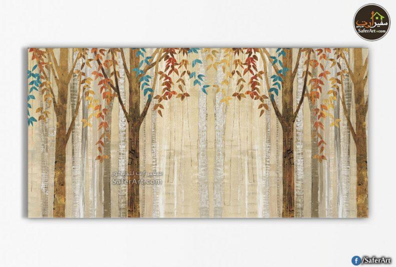 تابلوه مودرن-أشجار الغابه