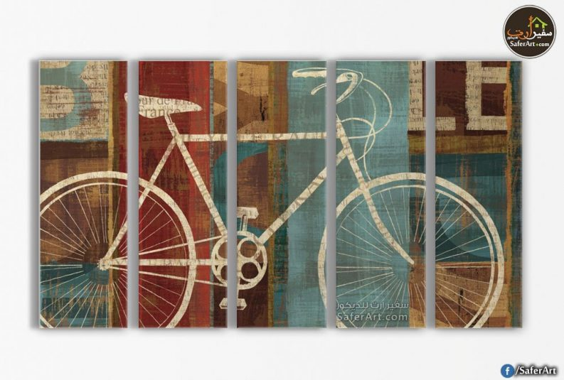 تابلوهحائط-دراجه هوائيه