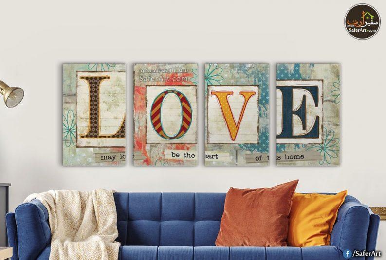 LOVE تابلوه حائط رومانسي