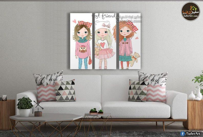 لوحات حائط ,رسومات للبنات بأشكال كارتوني