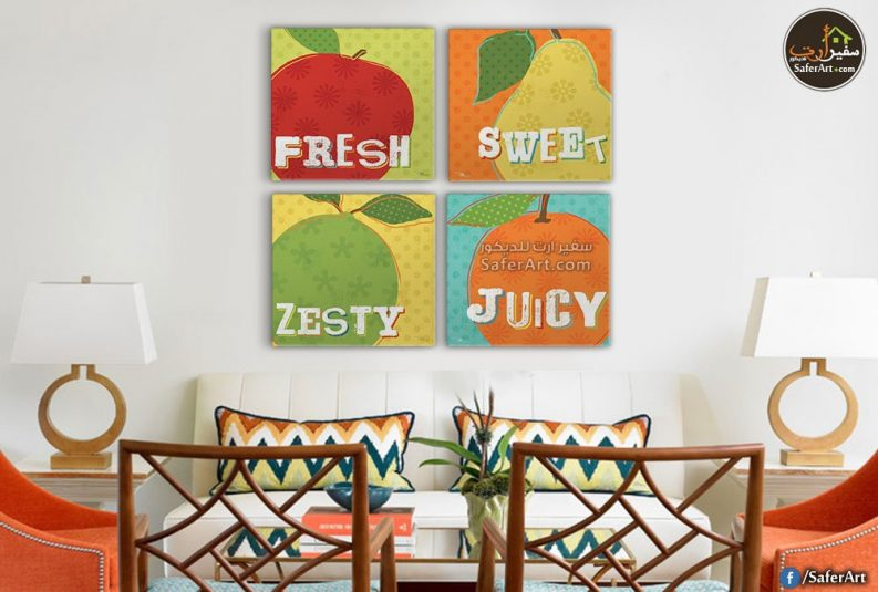 لوحات حائط فواكهه للمطبخ