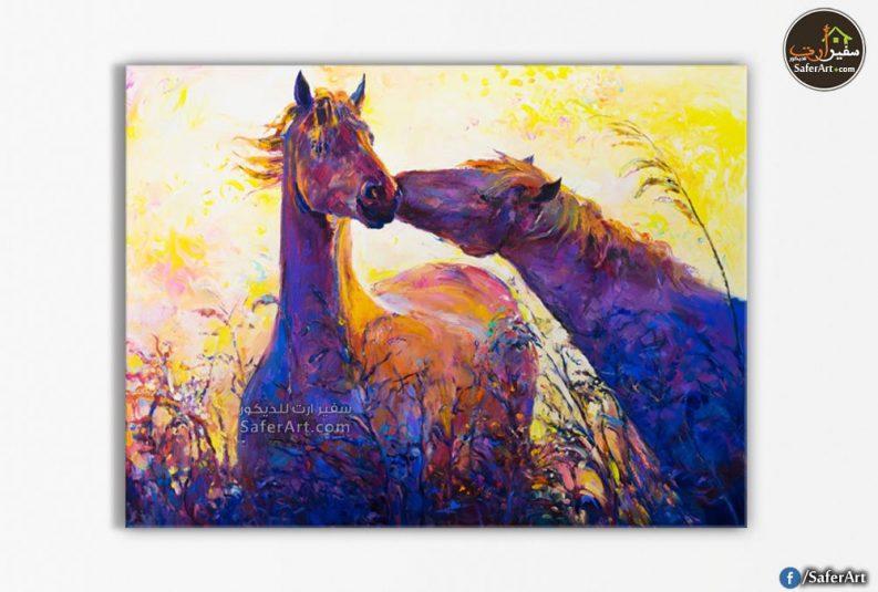 تابلوه رومانسي -حصان