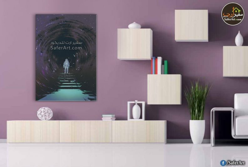 لوحه حائط لغرف الشباب ومحبي المغامرات والاستكشافات الفضائيه