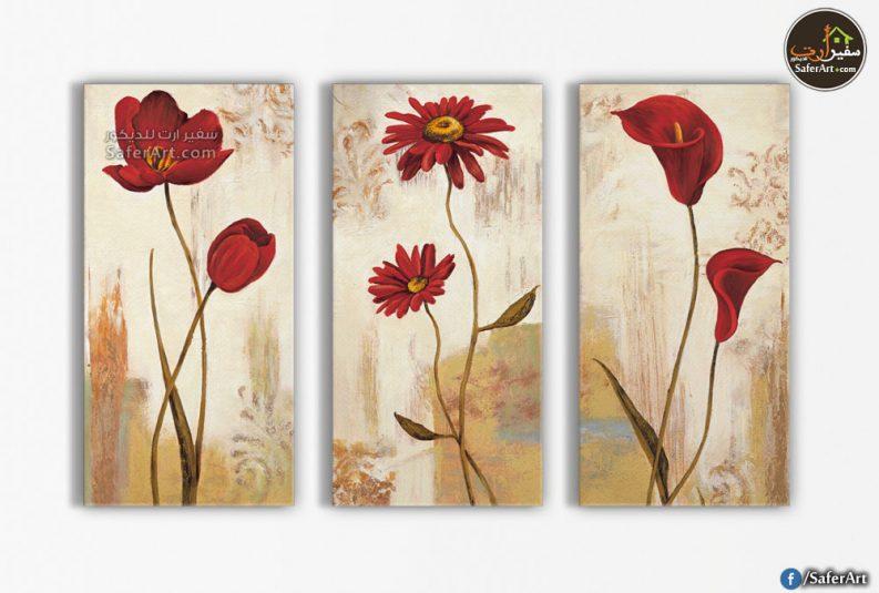 ورود وزهور حمراء