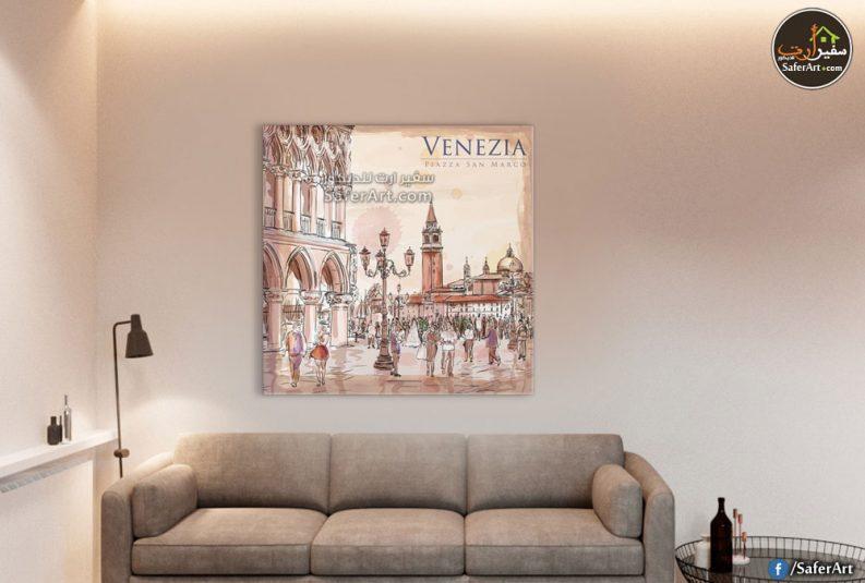 تابلوه حائط لاحدى مدن ايطاليا فينيسيا