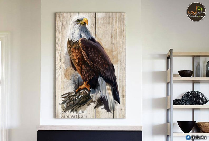 تابلوه حائط مودرن لطائر الصقر