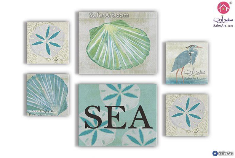 لوحات مودرن فنية عن الحياه البحرية