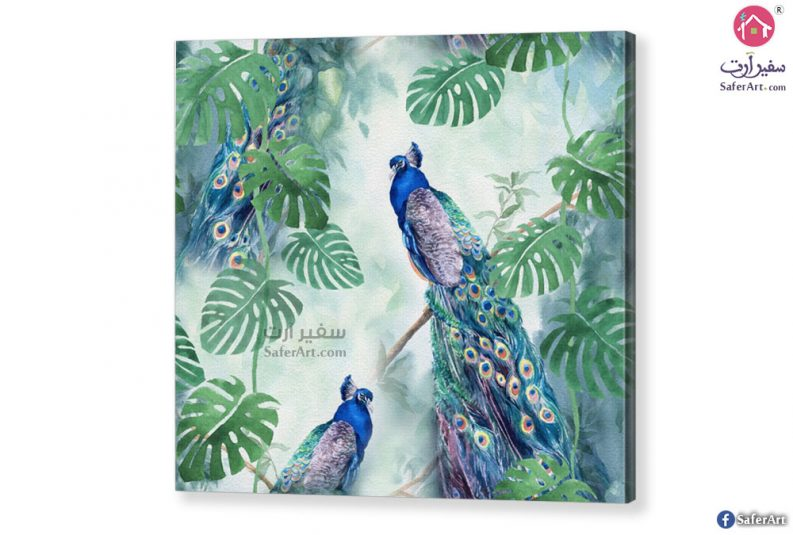 تابلوه-طاووس ازرق