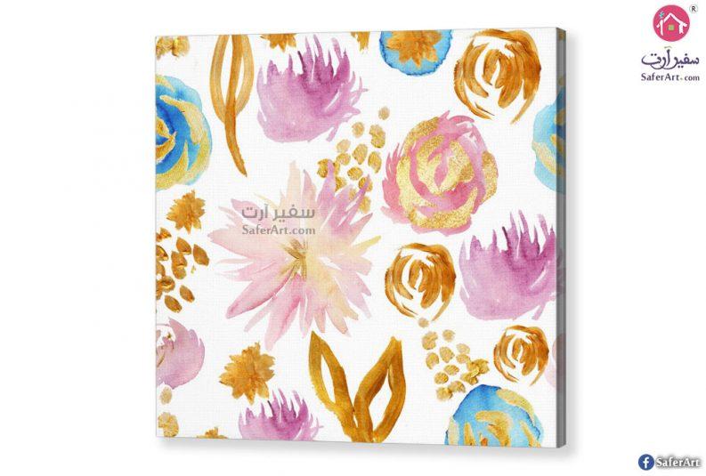 لوحه زهور للديكور