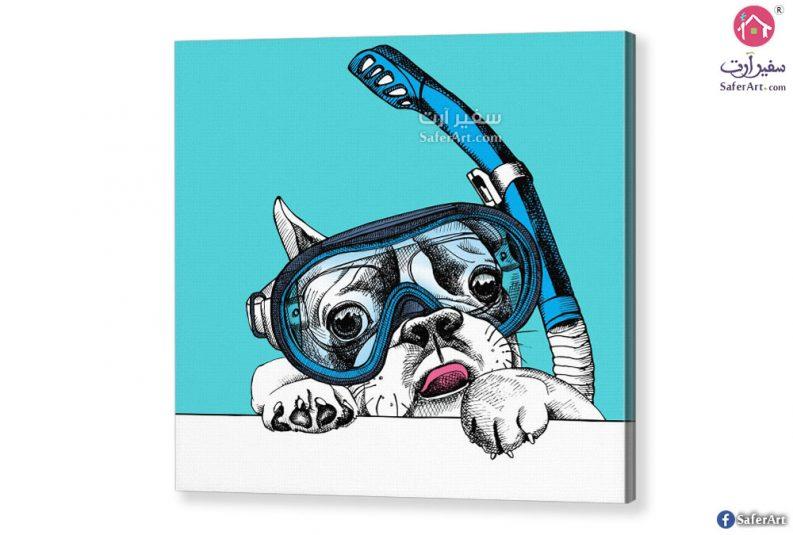 تابلوه ازرق-كلب