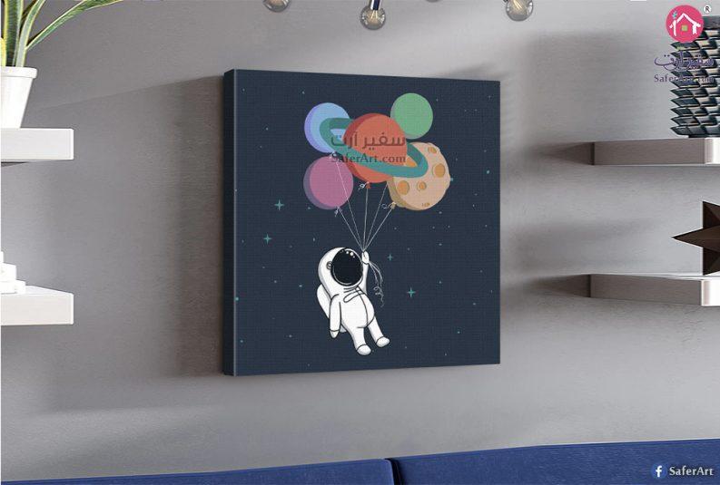 لوحه ديكور باللون الازرق لمحبي الفضاء والخيال العلمى