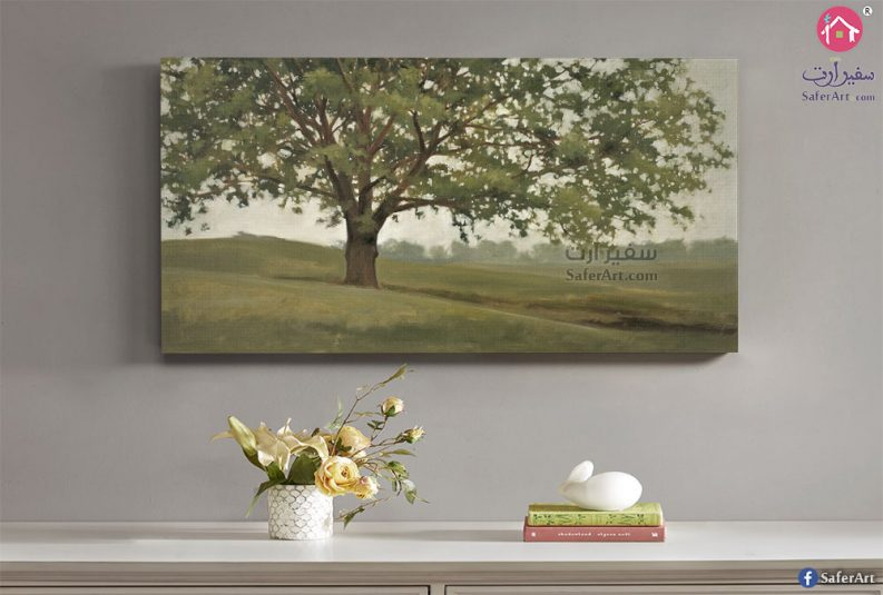 لوحه مميزه جدا لمنظر طبيعى لغابه مليئه بالاشجار الخضراء