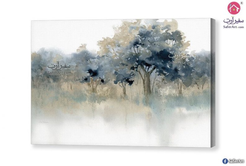 تابلوه مودرن-أشجار خضراء