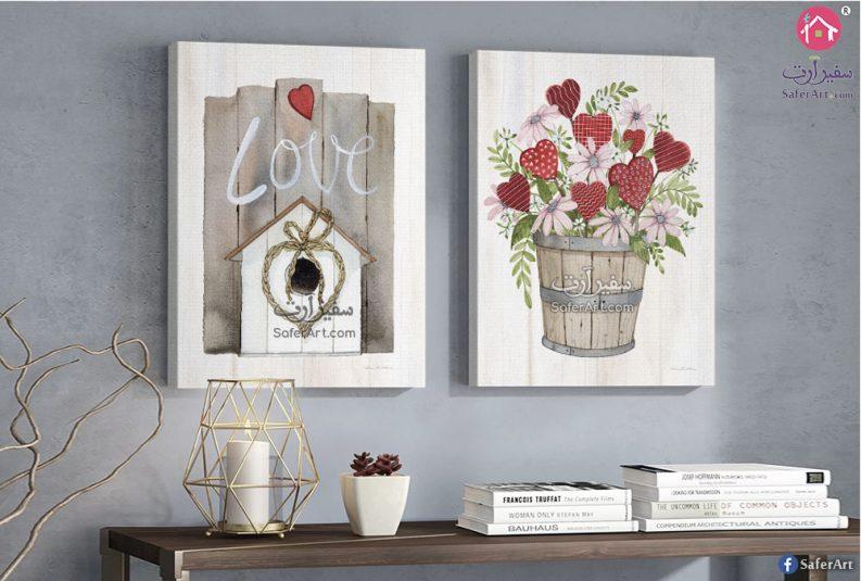 لوحات حائط رومانسيه لتصميمات بسيطه مجمعه