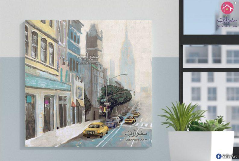 تابلوه حائط لاحدى شوارع نيويورك
