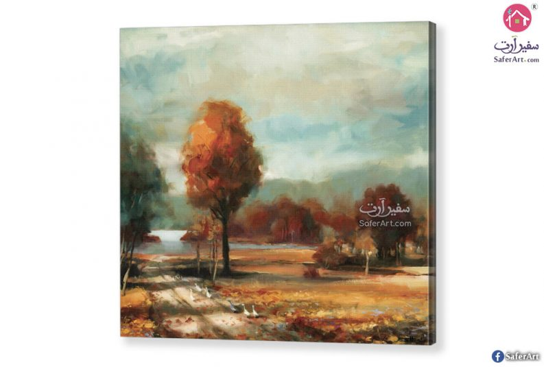 تابلوه مودرن لاشجار الخريف