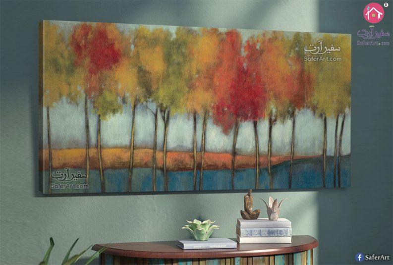 تابلوه حائط لرسومات الاشجار فى فصل الخريف