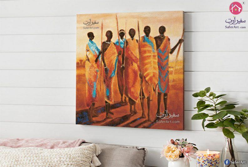 لوحه مميزه مودرن لشخصيات ترتدى الزى الافريقي