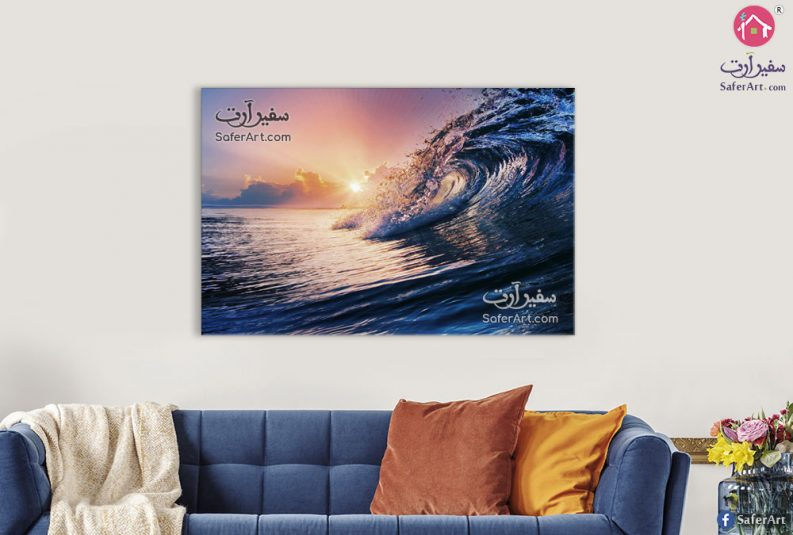 تابلوه مودرن البحر والغروب