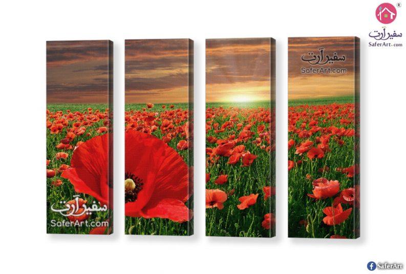تابلوه حقل زهور حمراء