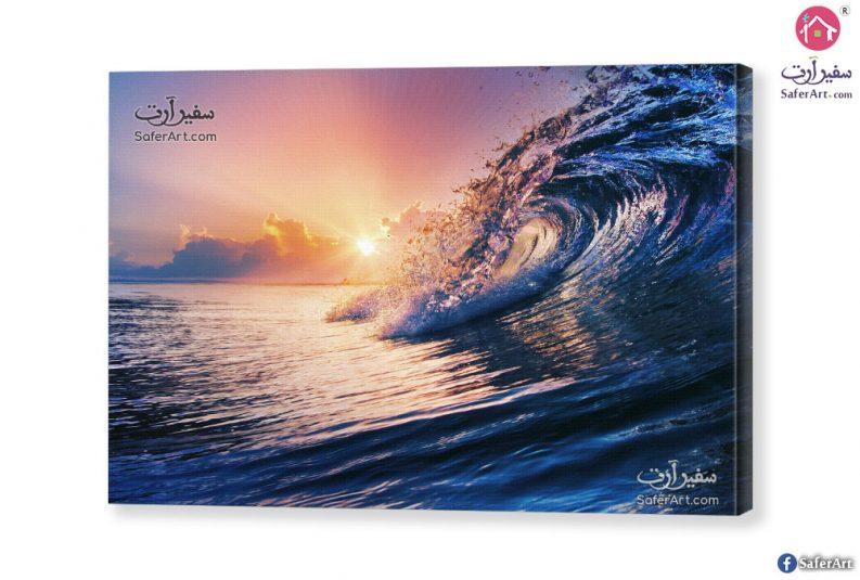 لوحه فنيه امواج البحر