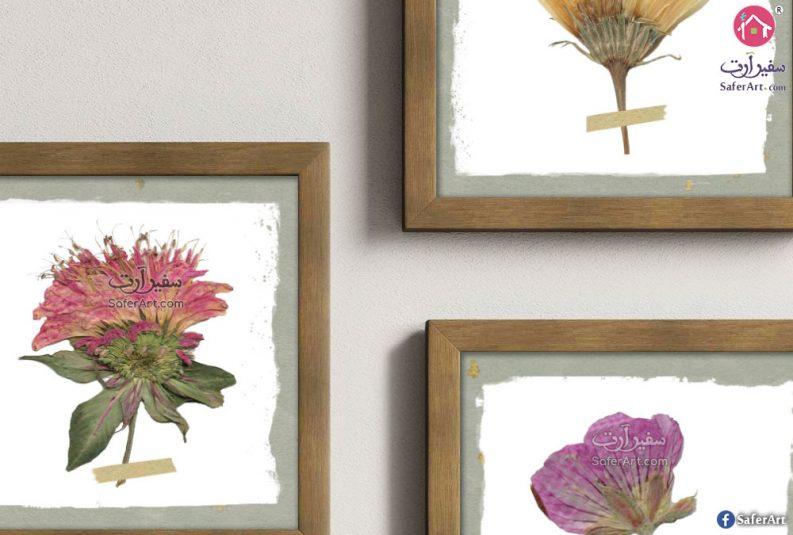 لوحات مودرن مع برواز خشبى