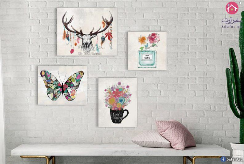 لوحات حائط ديكور لغرف البنات