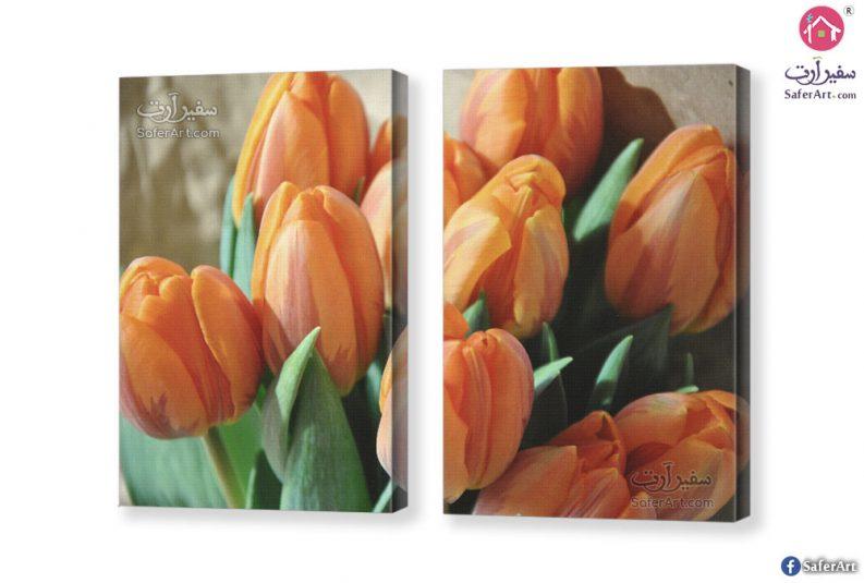 Orange-flower-canvas