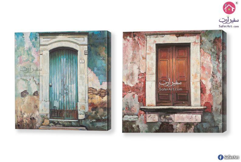 BLUE DOOR OF AN OLD BUILDING