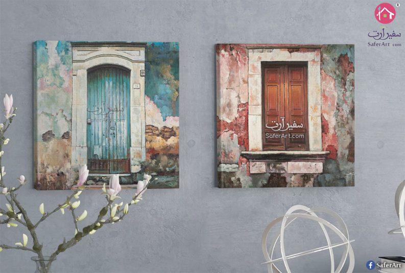 لوحات مودرن كلاسيكيه لابواب مبانى قديمه