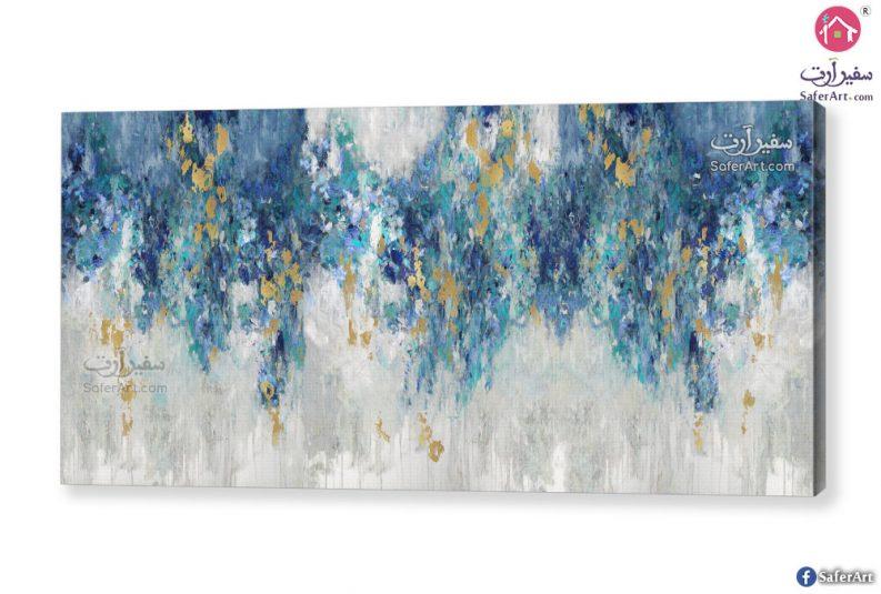 لوحه مودرن مميزه لتابلوه تجريدى باللون الازرق