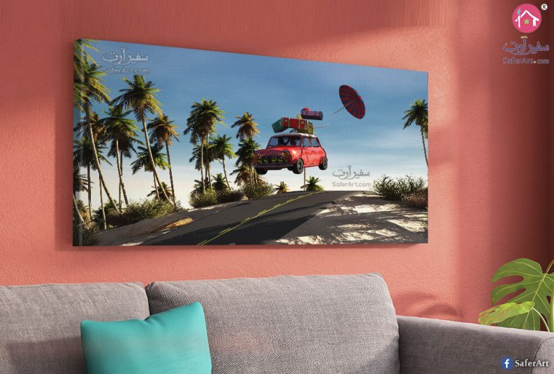 car-red-wall-art