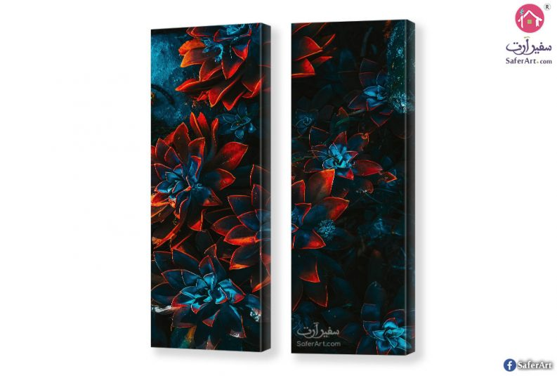 Abstract-flowers-canvas