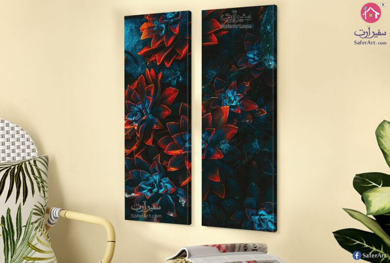 Abstract-flowers-wall-art