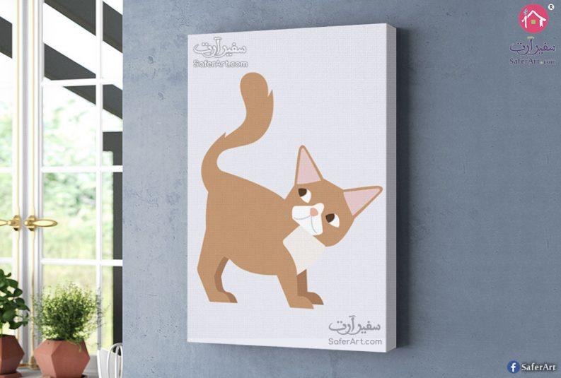 لوحه فنيه قطه