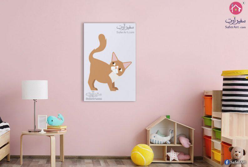 لوحه حائط قطه