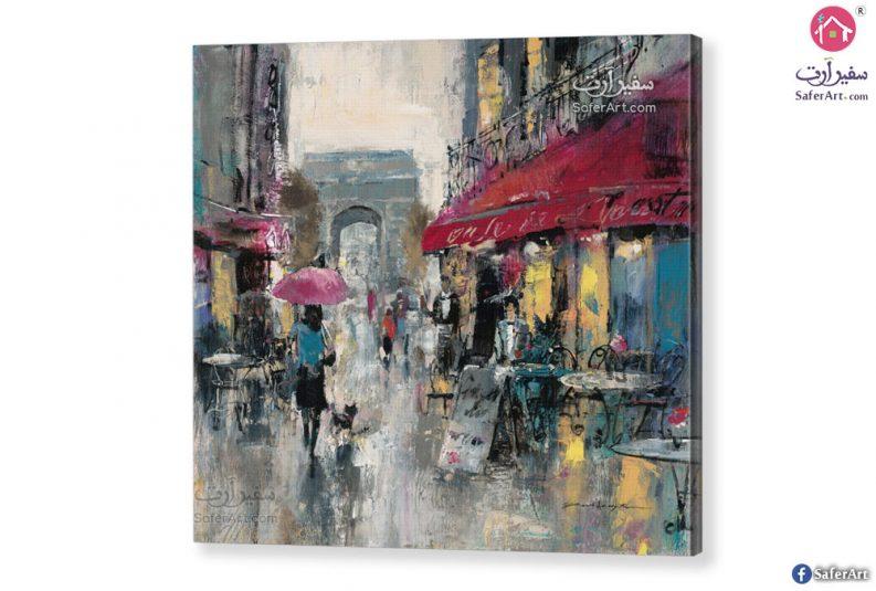 لوحه مودرن – شوارع باريس